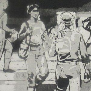 Isabel Bishop – Students on the Steps, 1981