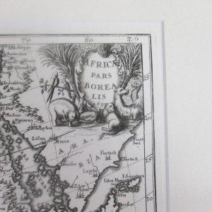 Heinrich Scherer – Africa Pars Borealis (Map of Northern Africa), 1702-1710