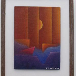 Rafael Ortiz – (Untitled) Pair of Abstract Paintings